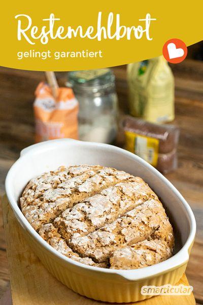 Brot aus Mehlresten backen: Grundrezept für Restemehlbrot