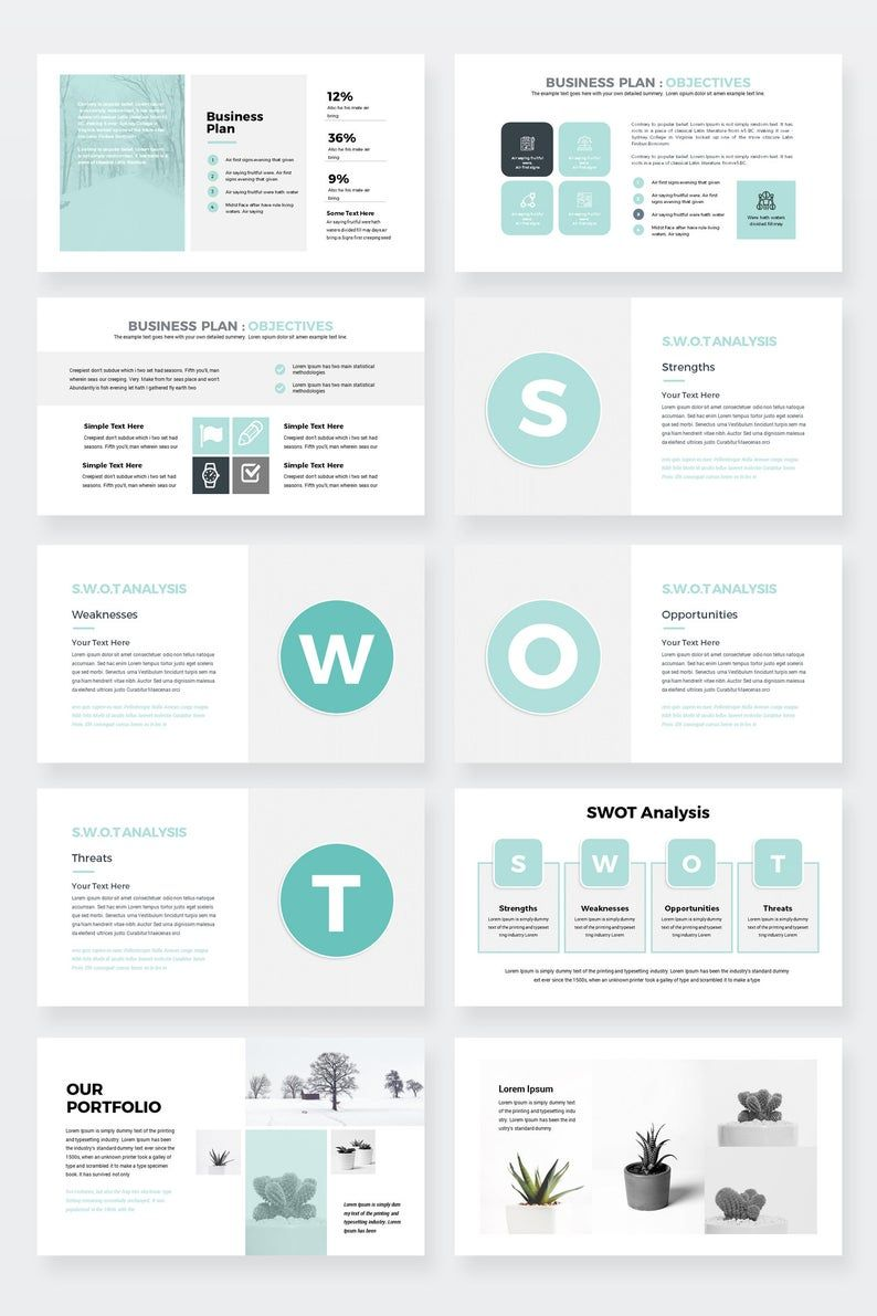Modern Business Plan PowerPoint Template Editable power