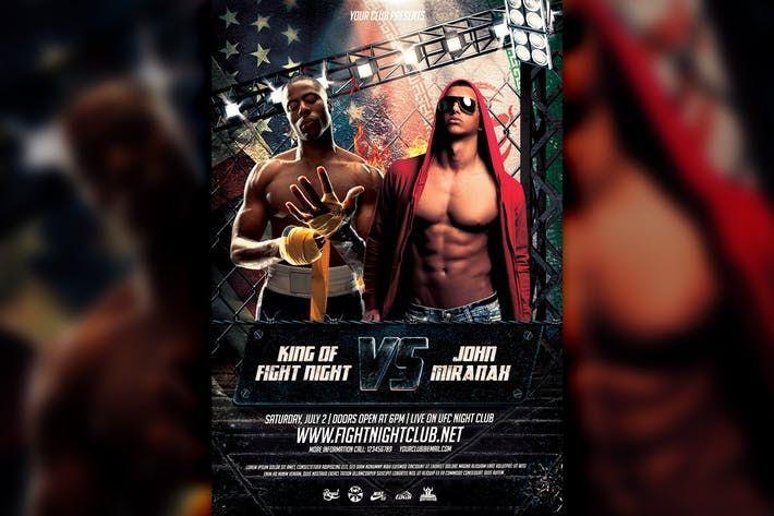 MMA Boxing Showdown Flyer Template #boxing #mma • Download here ...