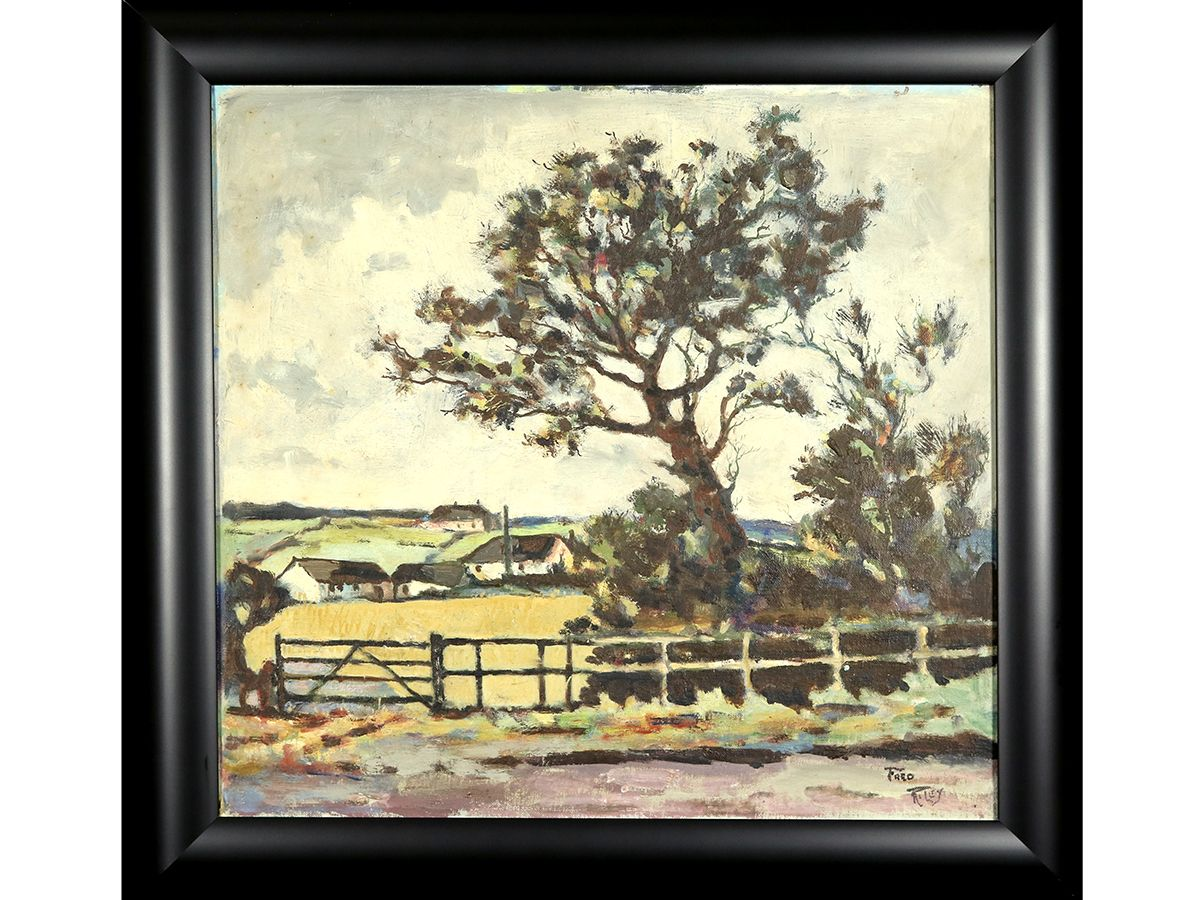 Fred Riley, The Old Pit, Trowell. Original oil on board, signed ...