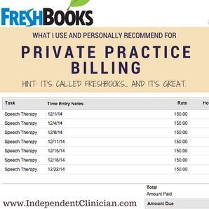 Why I Use Freshbooks For My Private Practice Billing Private - Speech therapy invoice template