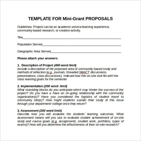 Examples Of Grant Proposals Check more at