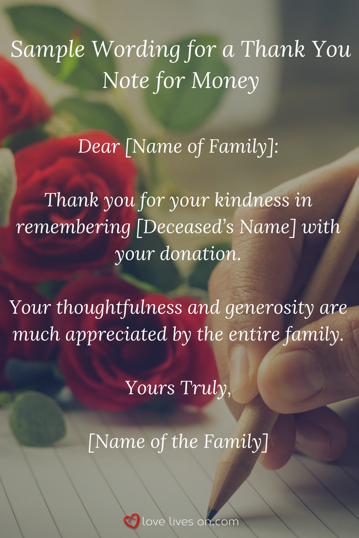 obituary thank you notes