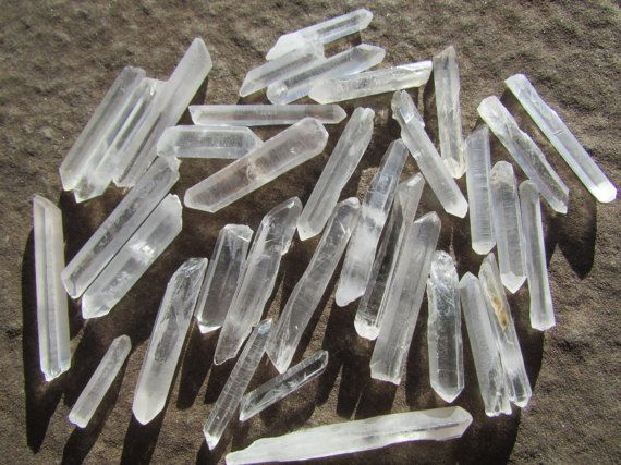 Gemstones Rocks and Minerals Drilled Crystals 4 Clear Quartz Pendant Stones Bulk Lot Quartz Crystal Necklace Stone Beads Stone Pendant