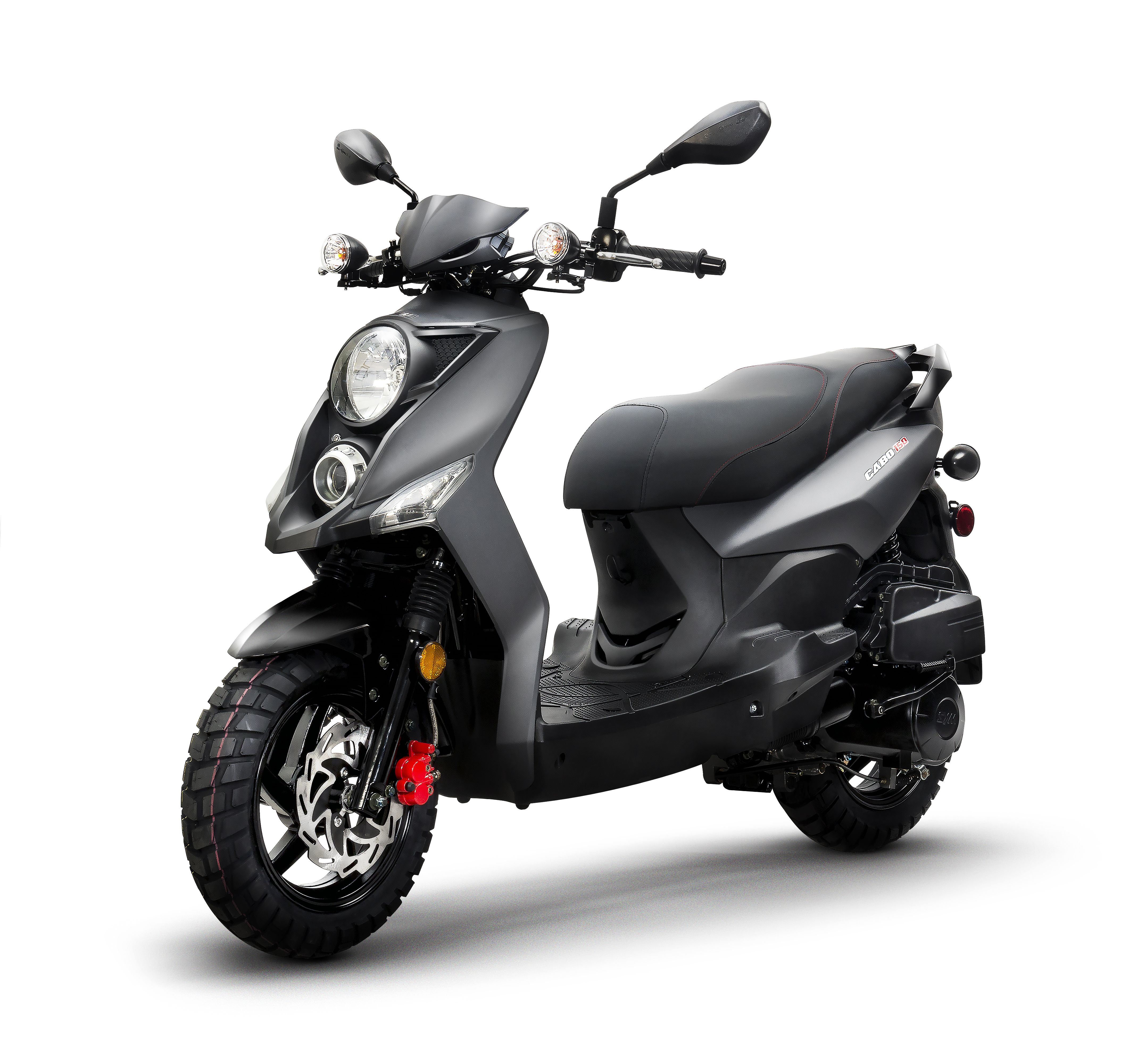 Lance Cabo 150 Matte Black   Scooters   150cc scooter, Cabo