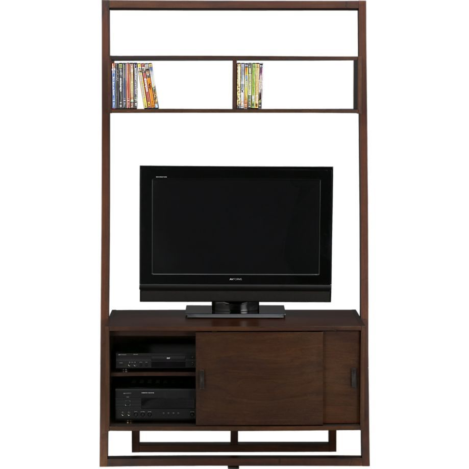 Sloane Java 43 75 Leaning Media Stand Media Stand Crate And