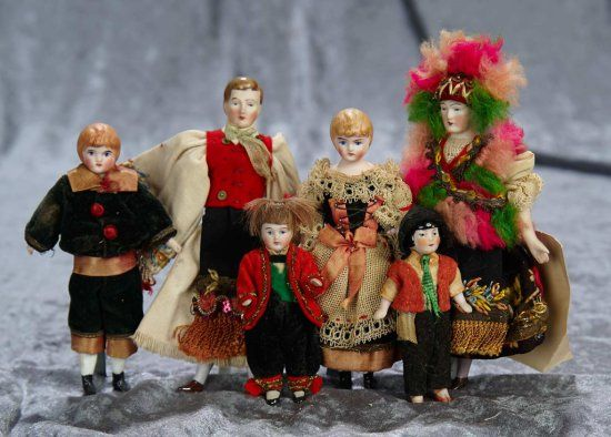 Four German bisque dollhouse dolls with original costumes 300/500 | Art, Antiques & Collectibles Toys & Hobbies Dolls | Auctions Online | Proxibid