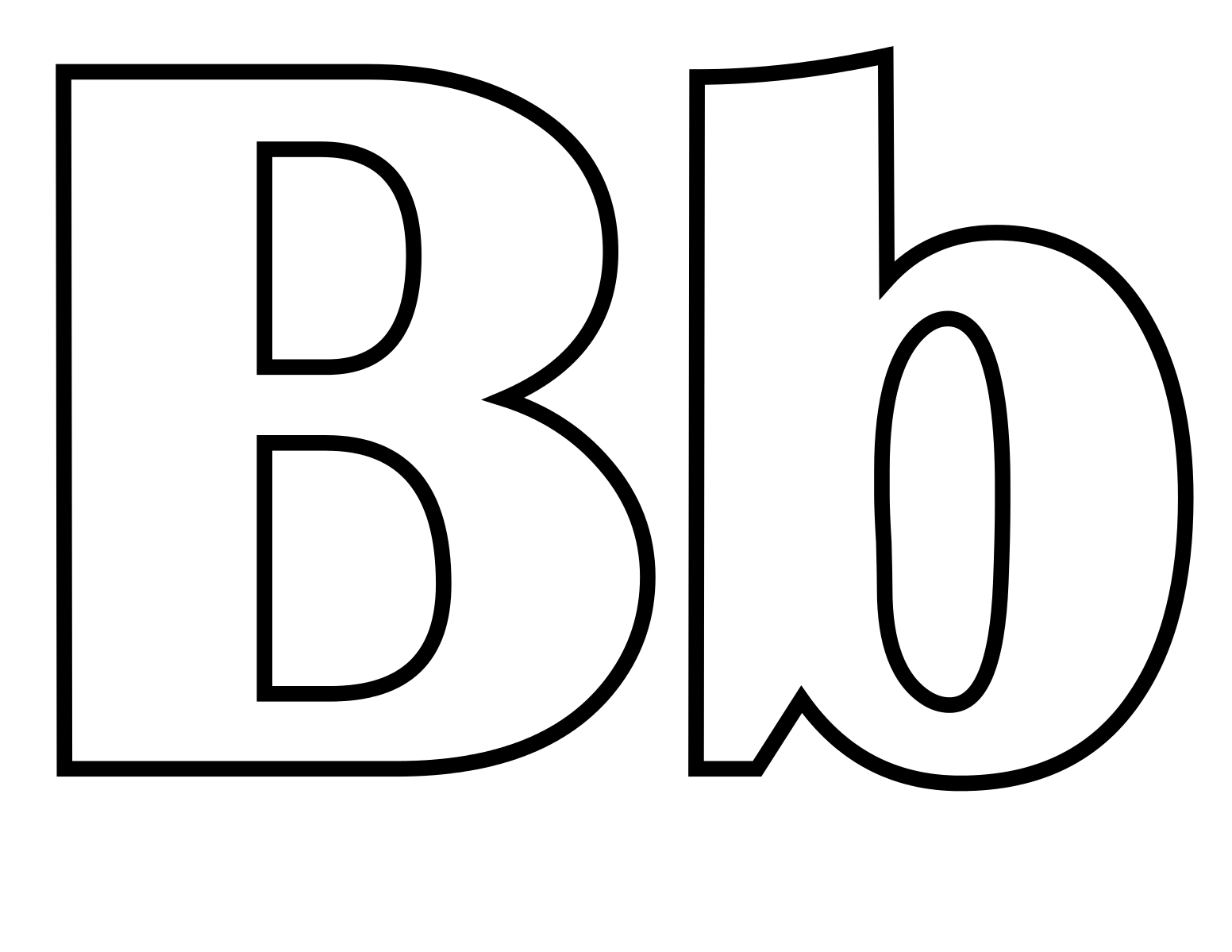File Classic Alphabet B At Coloring Pages For Kids Boys