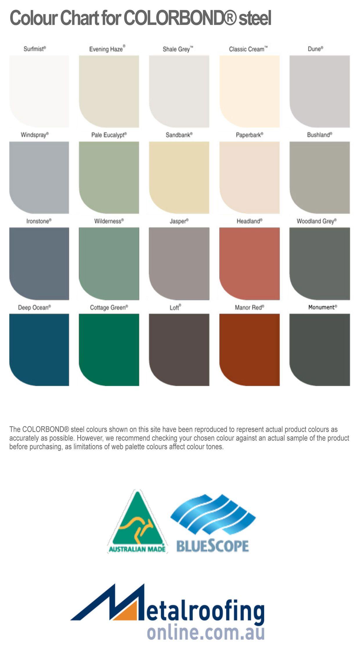 Colorbond Colours Metal Roofing Online Colours Shale Grey Color Show