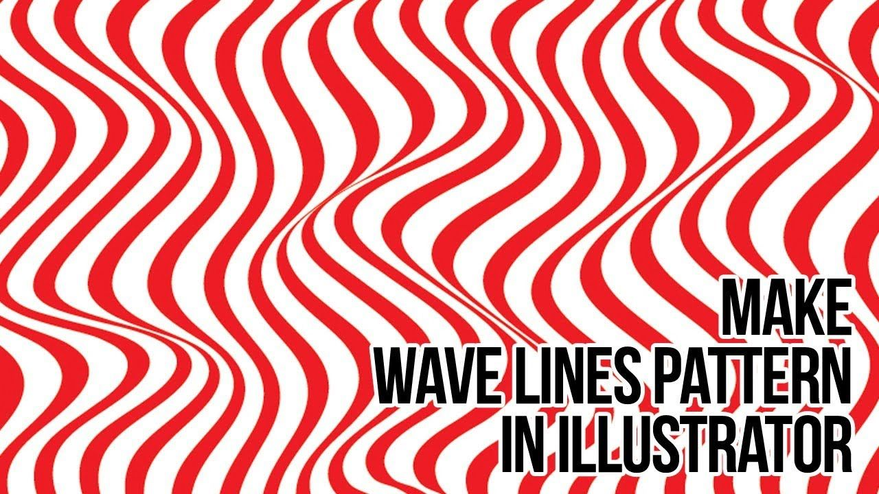 How To Create Line Waves Pattern In Adobe Illustrator Illustration Halftone Pattern Wave Pattern