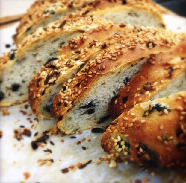 Coriander, Olive and Onion #Bread