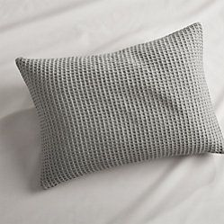 Lindstrom Grey Bed Pillow 22x15 With Feather Down Insert