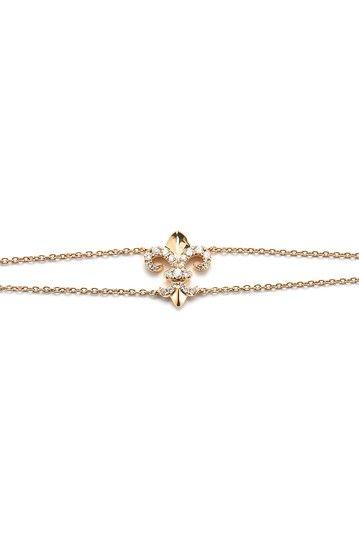 18K Rose Gold Diamond Accent Fleur de Lis Bracelet - 0.20 ctw by Lily & Isabella on @HauteLook