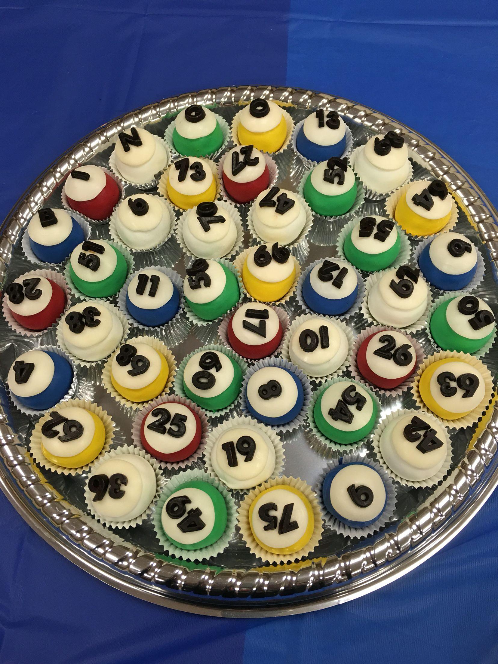 Bingo themed party bingo oreo balls with images
