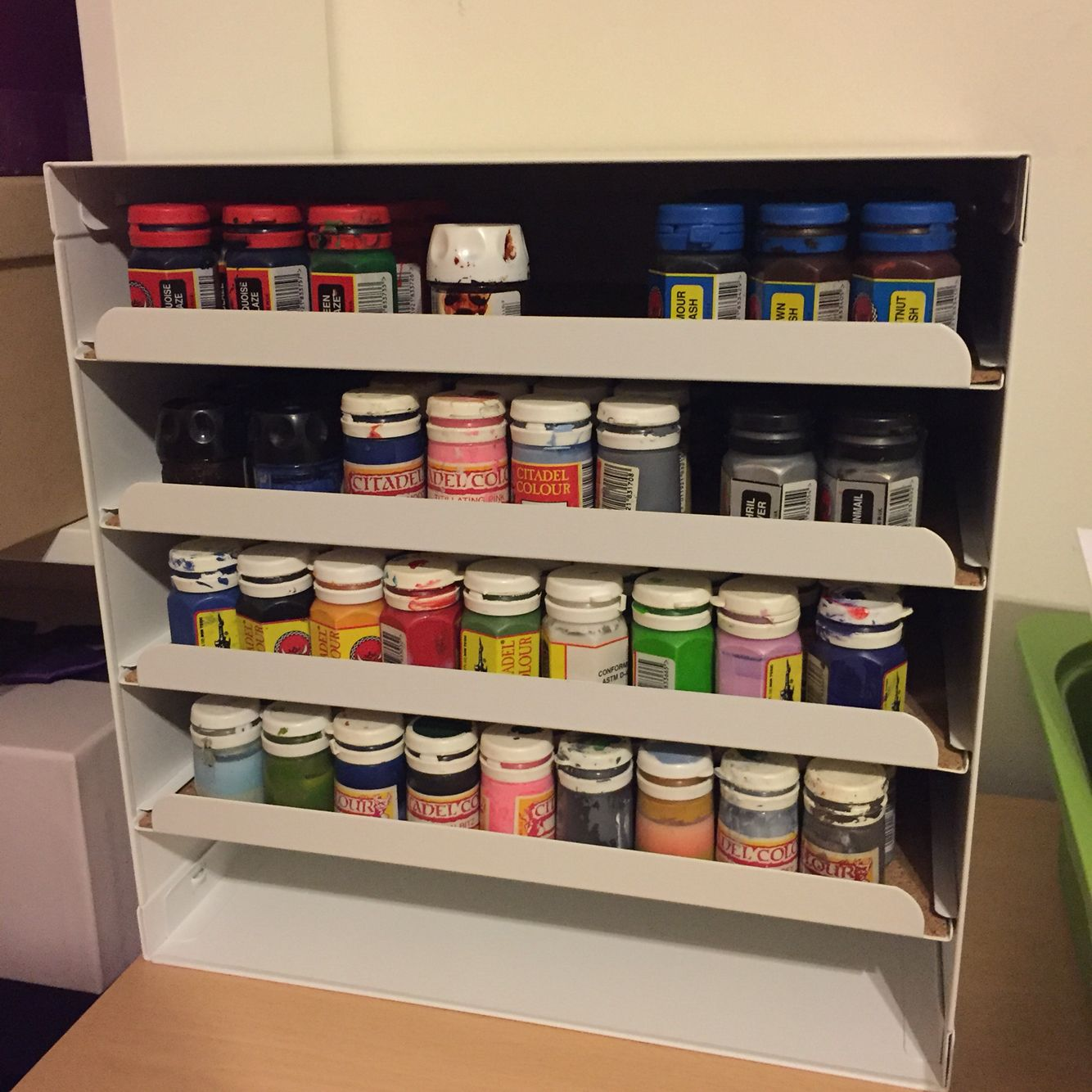Games workshop colorado - Using The Ikea Kvissle Letter Tray To Store Games Workshop Paints