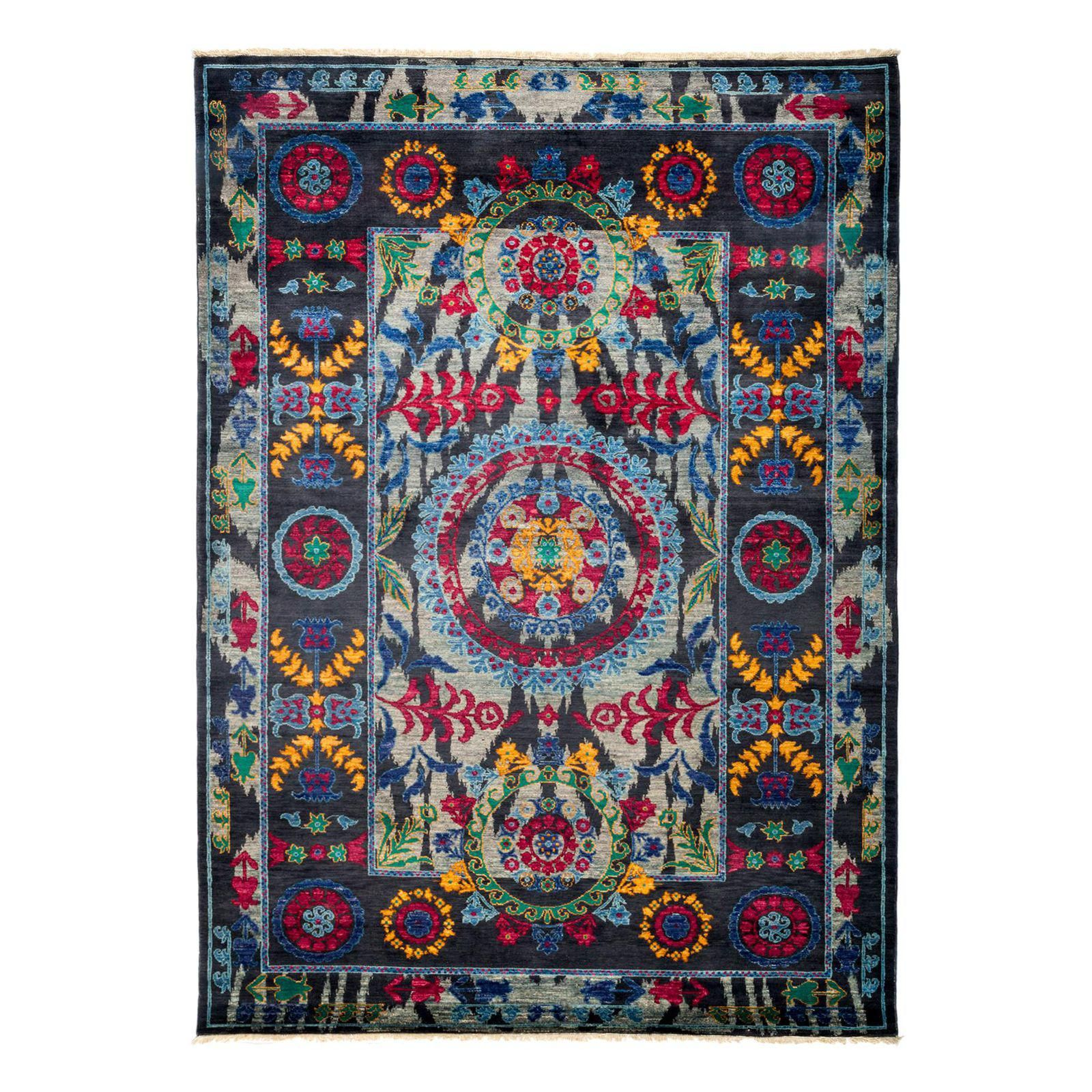"""Image of Suzani Hand Knotted Area Rug - 6'1"""" X 8'6"""""""