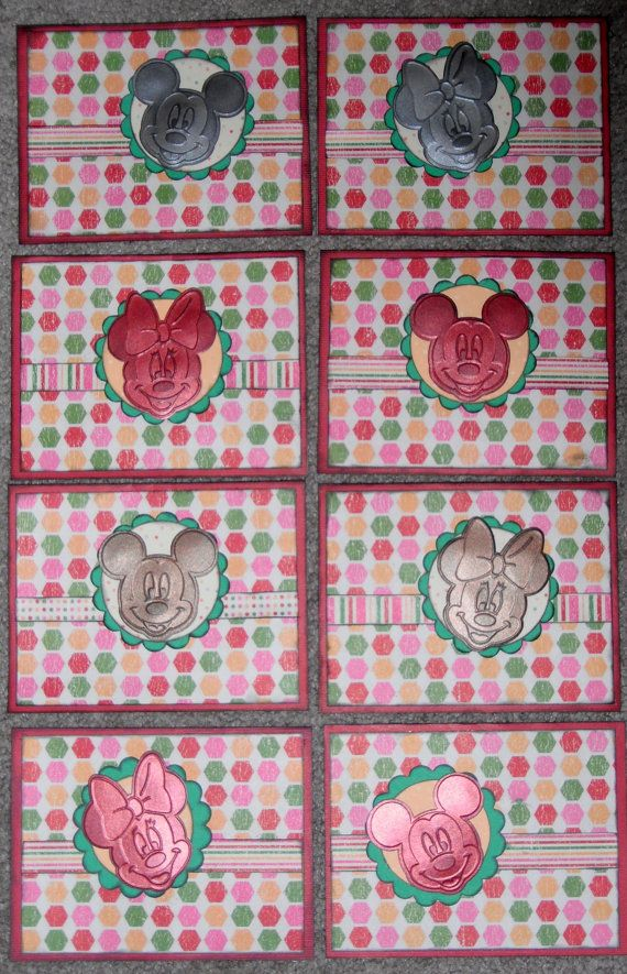 Set of 8 Disney Mickey & Minnie Mouse Character by TheScrapoholic