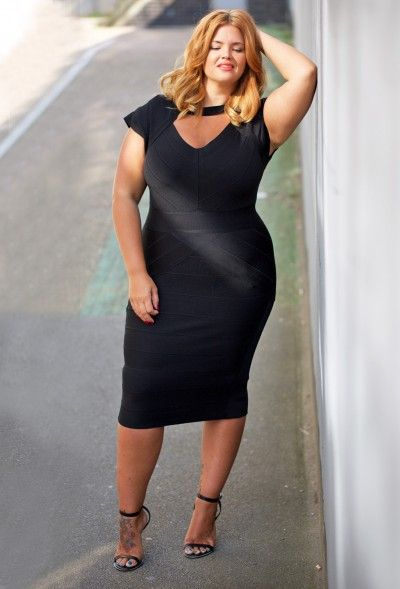 Bandage Bodycon Dress - Plus Size Clothing | Clothes for Curves ...