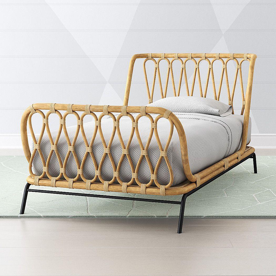 Rattan Kids Bed Crate and Barrel Kid beds, Bed frames
