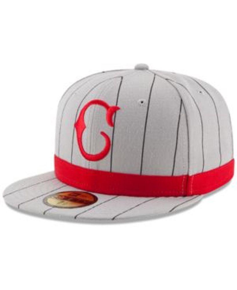 pretty nice 4208d 39b6d New Era Cincinnati Reds 5950 1916 Throwback Fitted Hat Gray Stripe Size 7  1 8  NewEra  CincinnatiReds