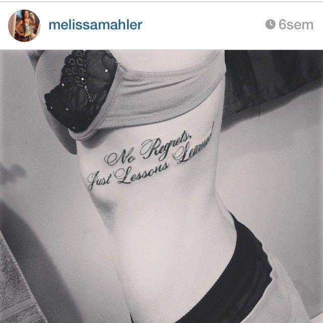 No regrets tattoo, more at tattoo-swag.com | Inked | Pinterest ...