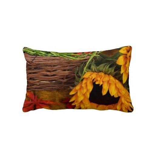 Fall Harvest Sunflowers Pillow