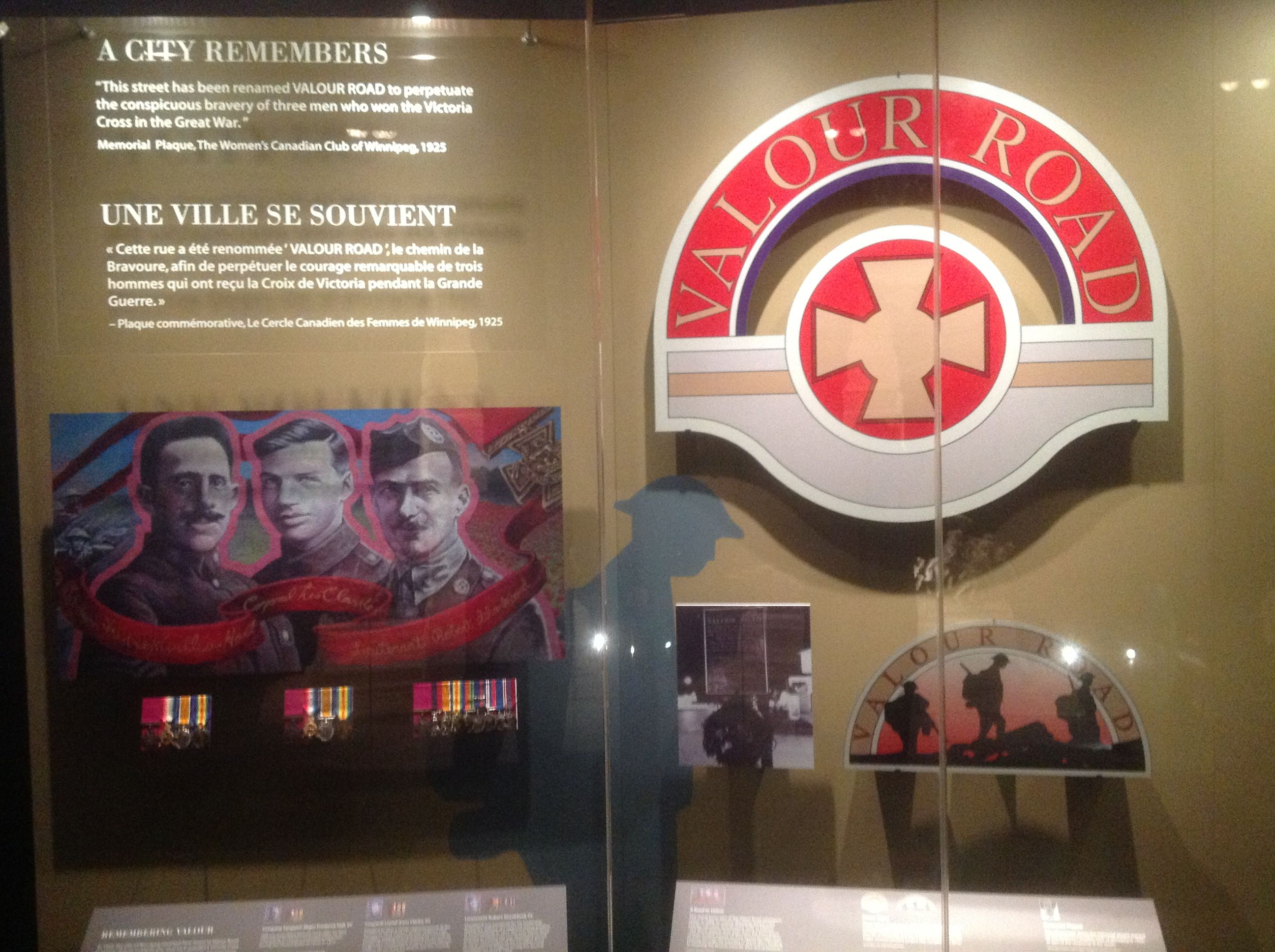 Valour Road exhibit at the National War Museum