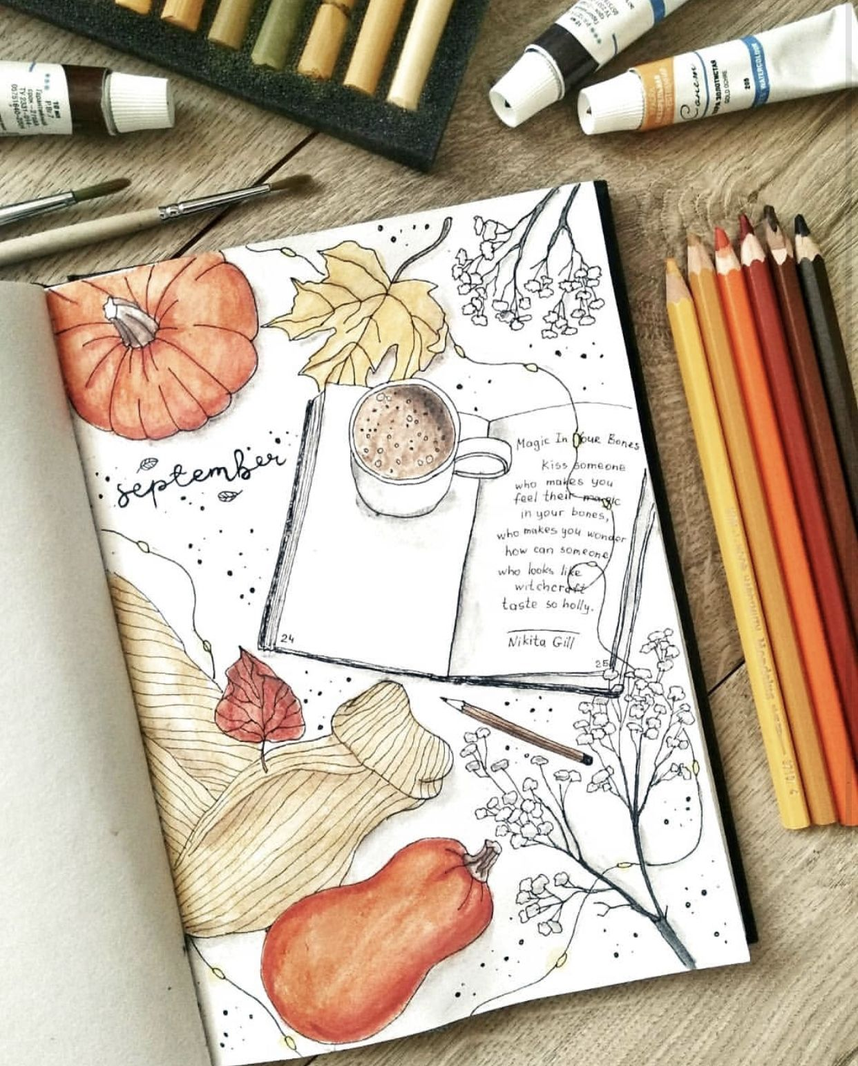 Fall Bullet Journal Themes