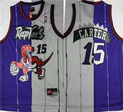 new product b8a9a 6326c Toronto Raptors #15 Vince Carter Men's Stitched NBA Split ...