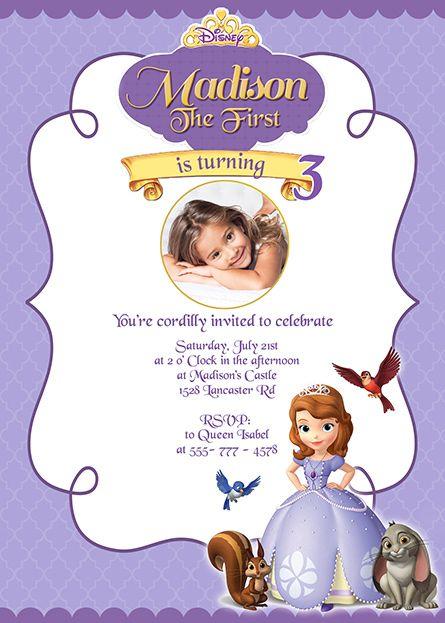 Sofia the First Birthday Invitation Envelope Invitations