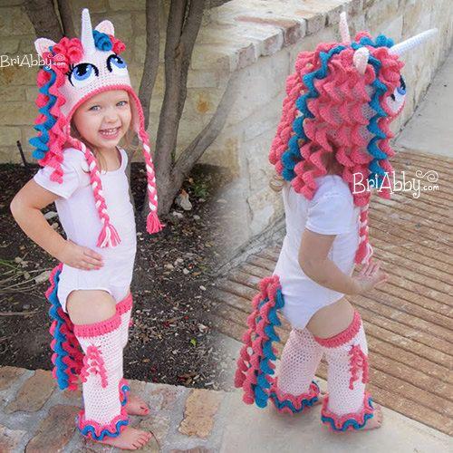 Crochet Unicorn   Pony Hat Leggings   Tail Pattern by BriAbbyHMA 4fc04821c00