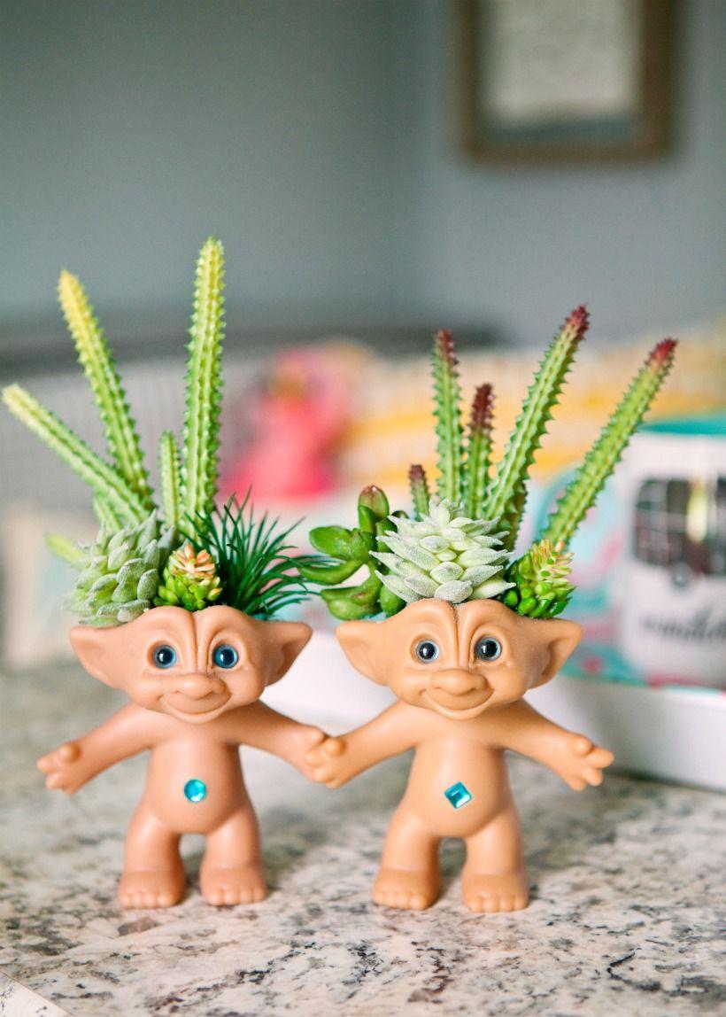 Baby Troll Succulent Planter