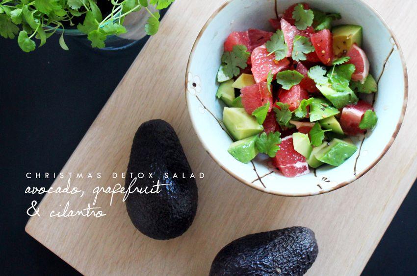 salat med frisk koriander