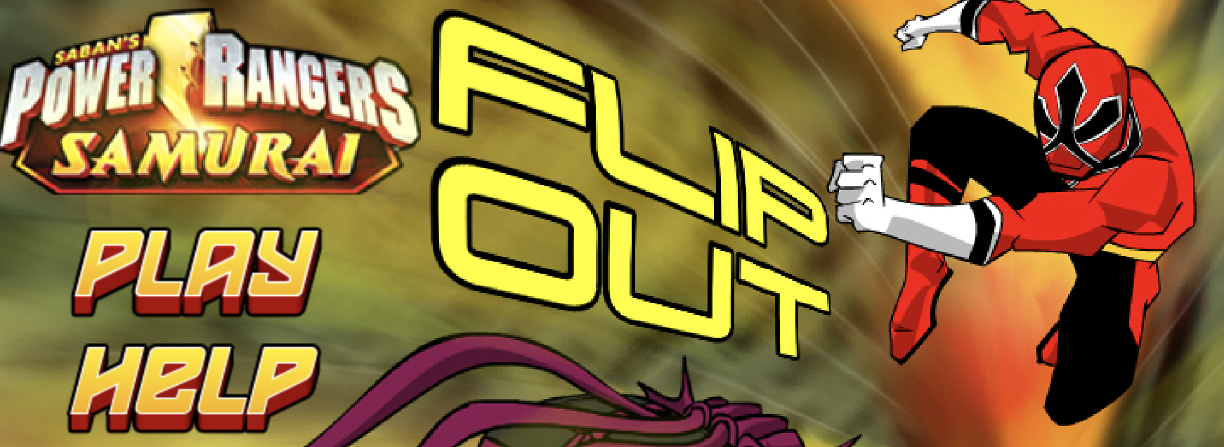 Play Power Rangers Flip Out Game in Let