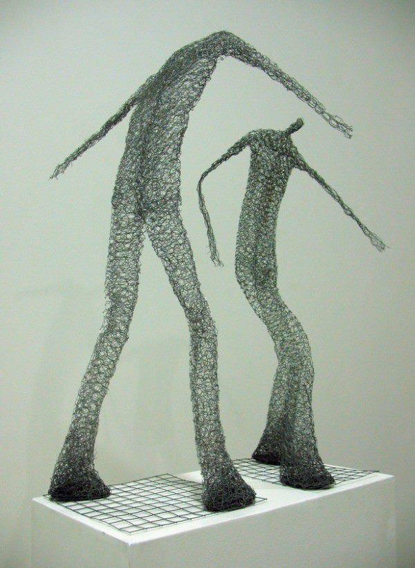 wire sculpture | Gardens | Pinterest | Kunstunterricht, Metall und ...