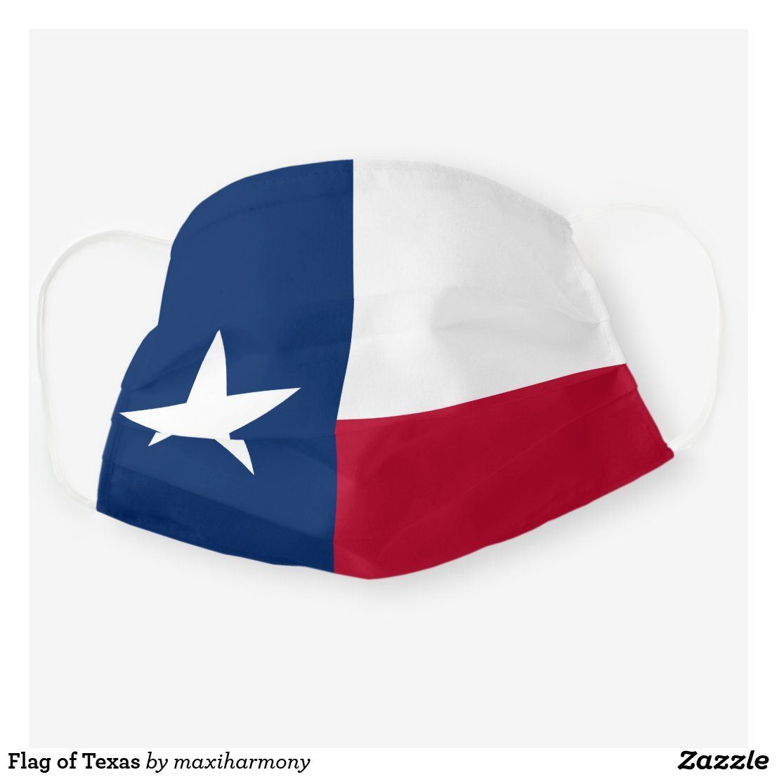 Flag Of Texas Cloth Face Mask Zazzle Com In 2020 Face Mask Texas Flags Personal Protective Equipment