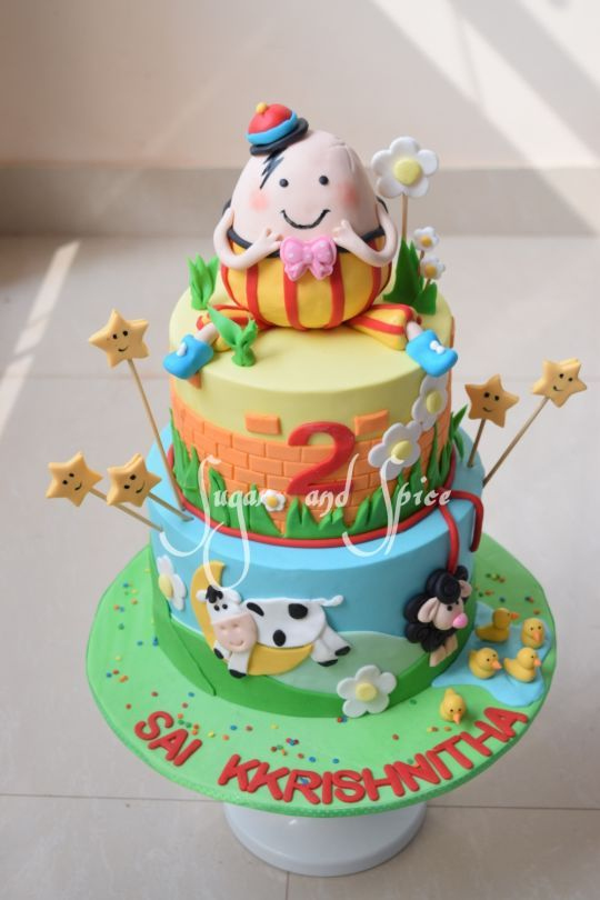 Nursery Rhymes Cake With Images 1st Birthday Cakes Nursery