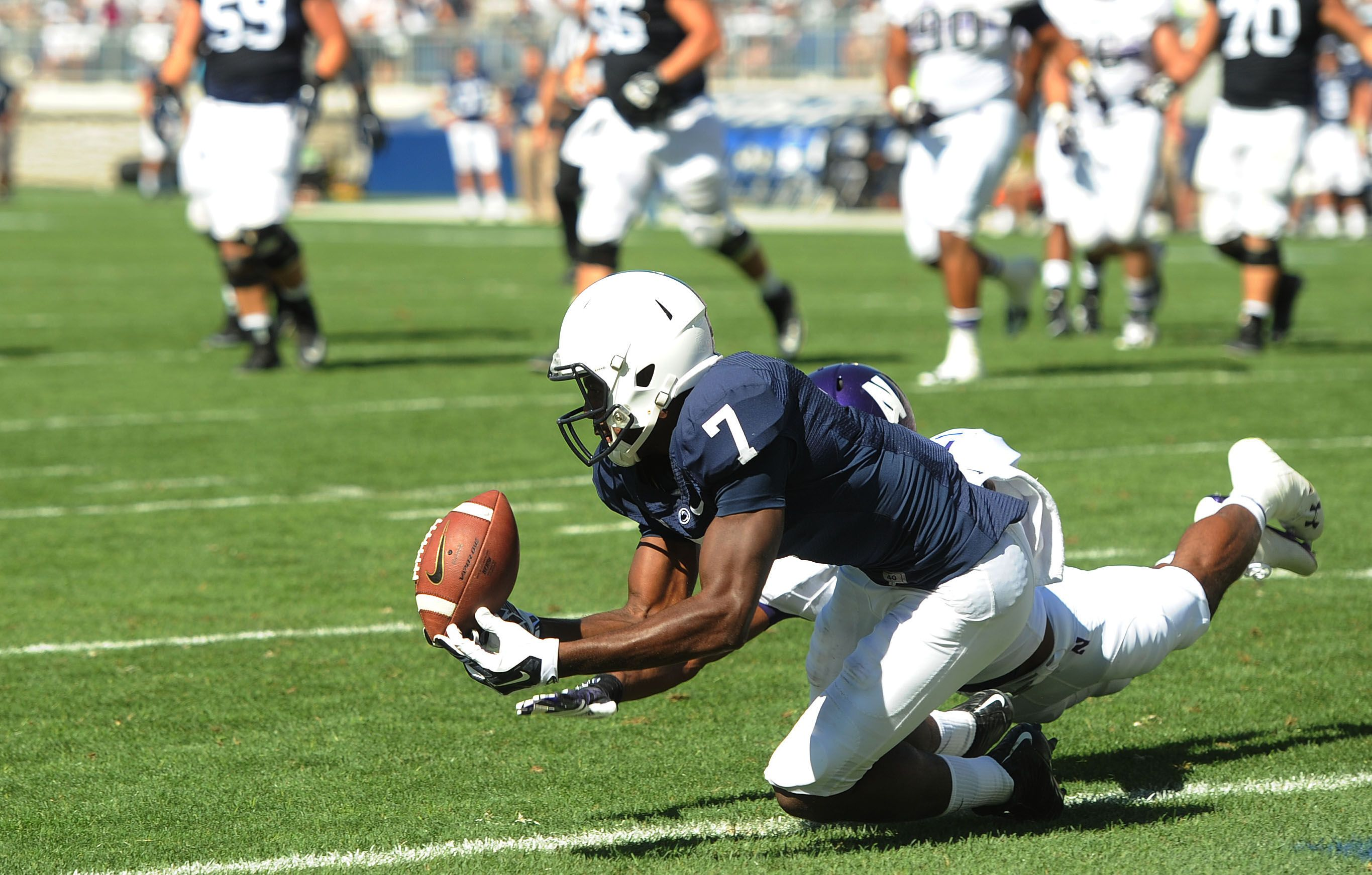 Penn State Football 2014 Geno Lewis Inability To Make Difficult Catch In End Zone Was Emble Penn State