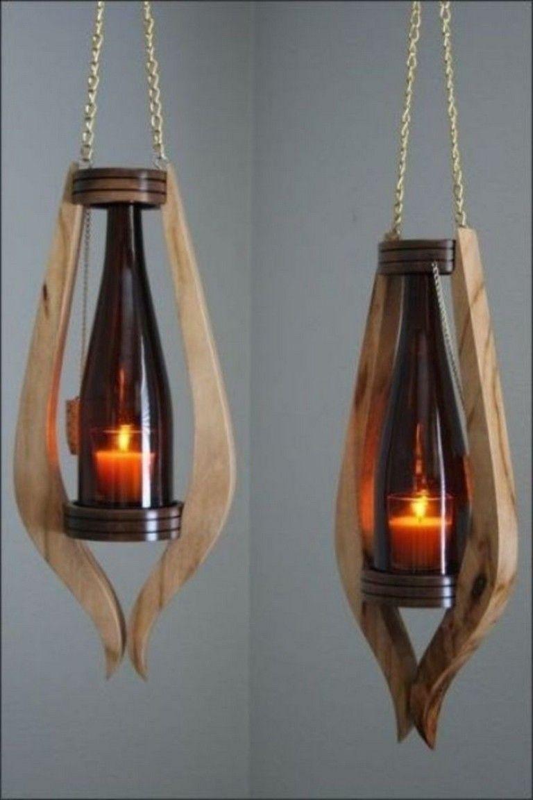 40 Unique Rustic Wooden Lamp Design Ideas In 2020 Wooden Lamps Design Wood Lamps Wine Bottle Lamp