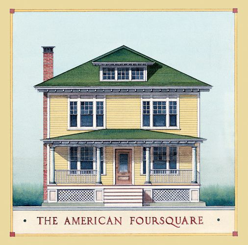 American Foursquare Architecture Interiors Square House Plans House Styles Four Square Homes