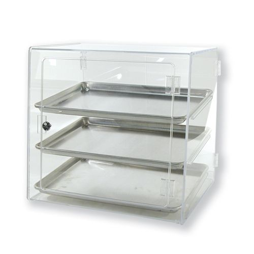 Clear Pastry Case Half Pan Self Serve Countertop Acrylic Bakery Display Cases Bakery Shop Design Pastry Display Cookie Display Case