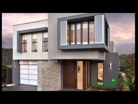 Planos de casas de dos pisos con fachadas modernas for Pisos para casas modernas
