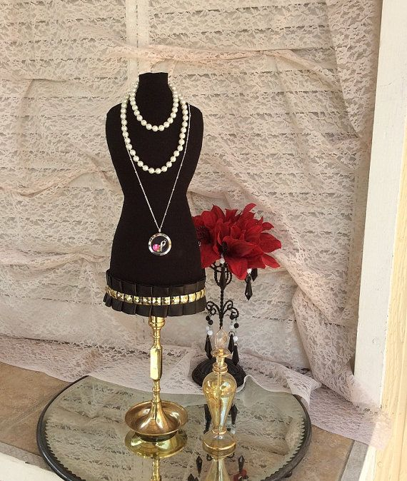 Jewelry Organizer Mannequin Dress Form Tabletop by BrightSpotDecor