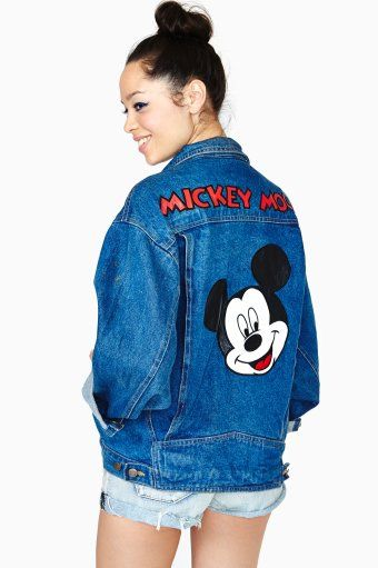ea9ef9bd mickey mouse denim jacket | the rage in 2019 | Disneyland outfits ...