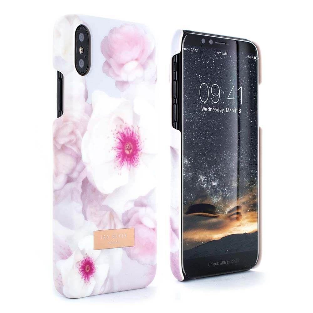 45b794bfc Ted Baker KAMALA Soft-Feel Shell for iPhone X - Chelsea (Pale Grey ...