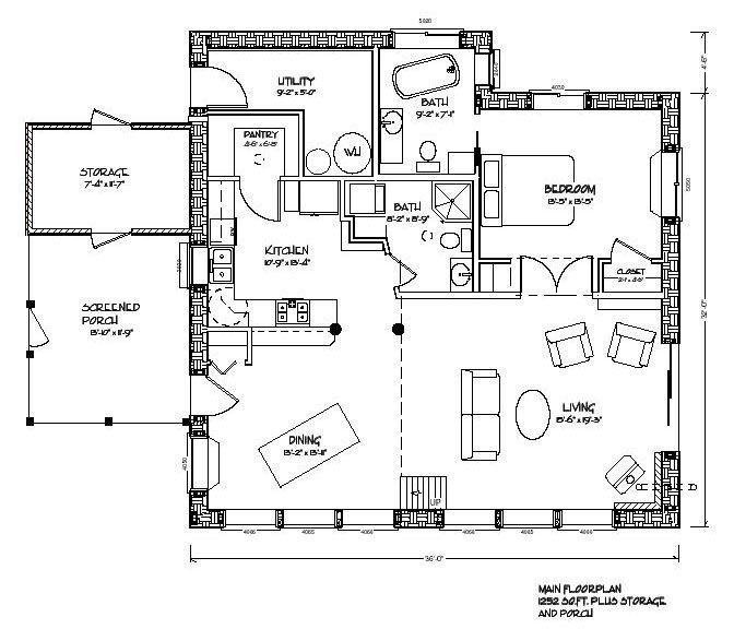 grandma house. cob house plans | eco nest 1200 strawbale home