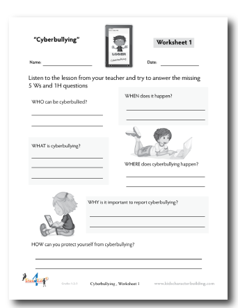 Printables Cyber Bullying Worksheets cyber bullying worksheets versaldobip davezan