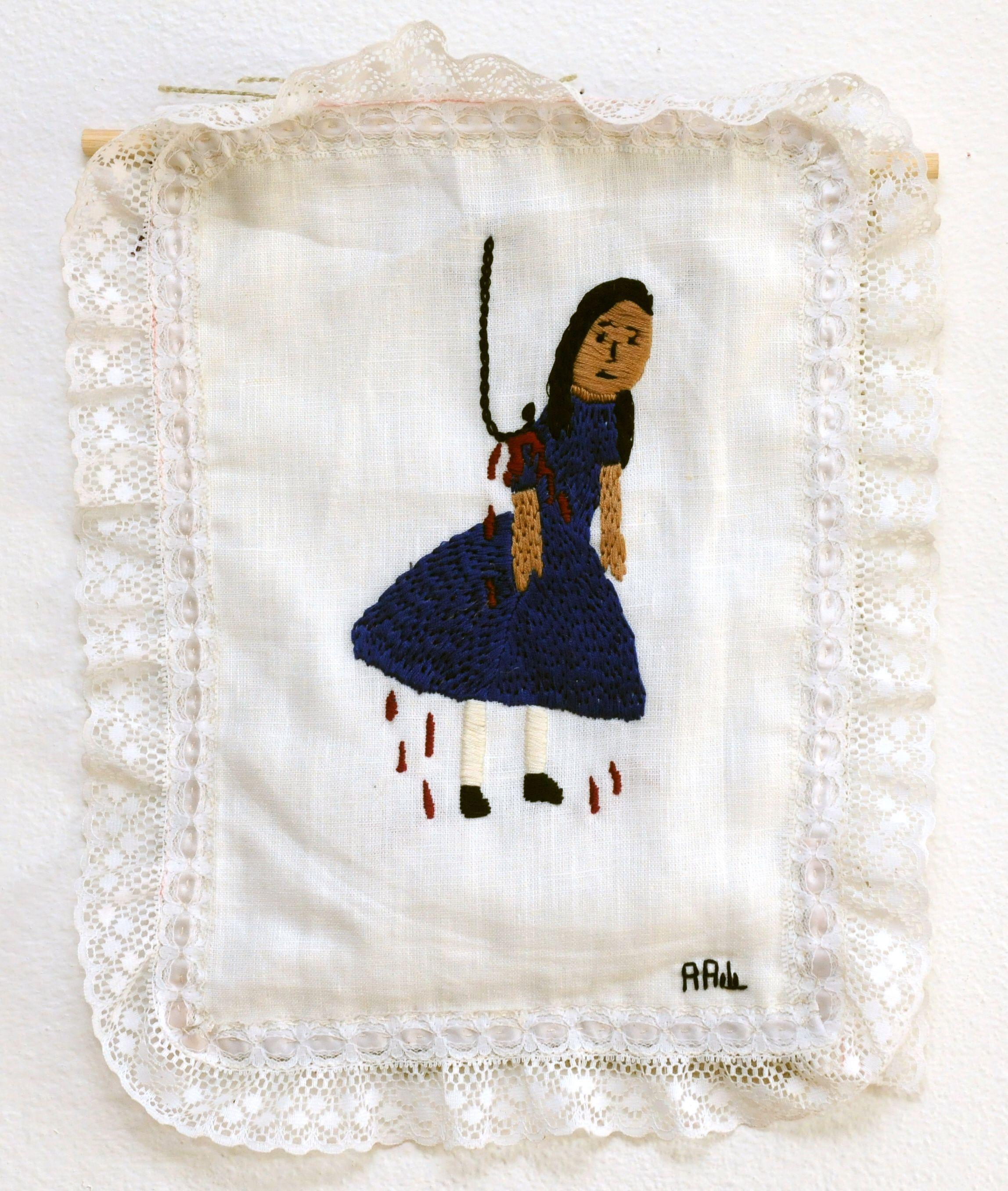 Innana, 2007, by Annie Aube, hand embroidery, www.annieaube.com