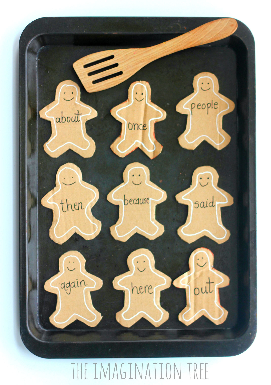 Gingerbread Man Sight Word Cards Bread Man Baking