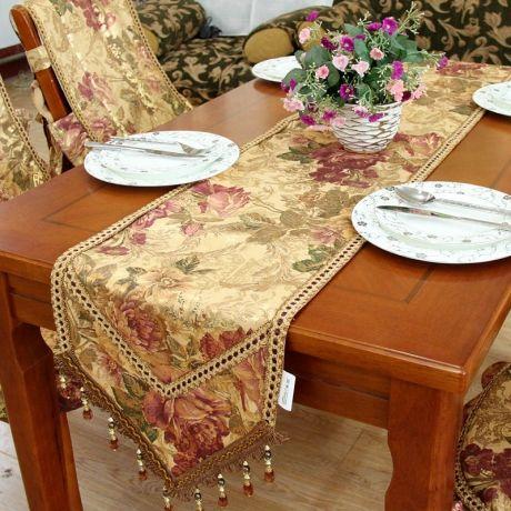 Beautiful Photos Of Beautiful Table Runners | Table Linens Table Runners Flower  Pattern Beautiful Elegant Table .